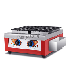 NEW Electric double plate baking fish ball furnace Commercial street food 2 plates Octopusball machine takoyaki machine 1pc