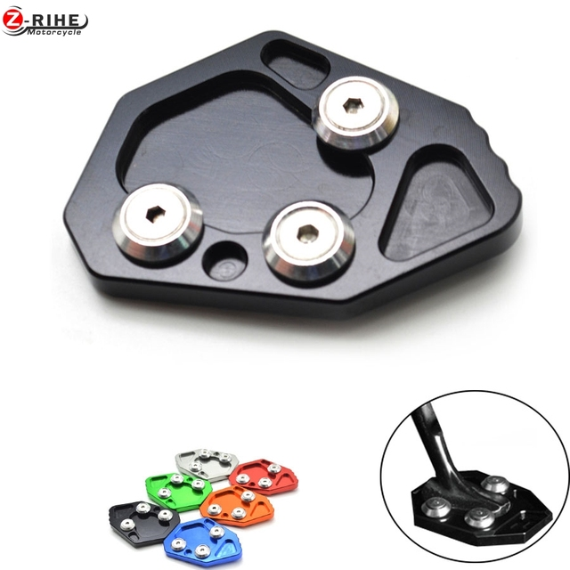 Motorcycle stand motorbike Kickstand Aluminum Side Stand Plate Enlarge caballete For BMW F800R 2009 2012 2013  sc 1 st  AliExpress.com & Motorcycle stand motorbike Kickstand Aluminum Side Stand Plate ...
