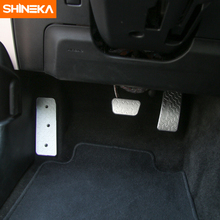 SHINEKA Car Styling Aluminum Alloy Car Left Foot Step Pedal Foot Rest Pedal Cover Anti Slip Plate Panel for Ford Mustang 2015 + honglue for honda today af61 motorcycle scooter aluminum alloy foot rest foot pad foot pedal