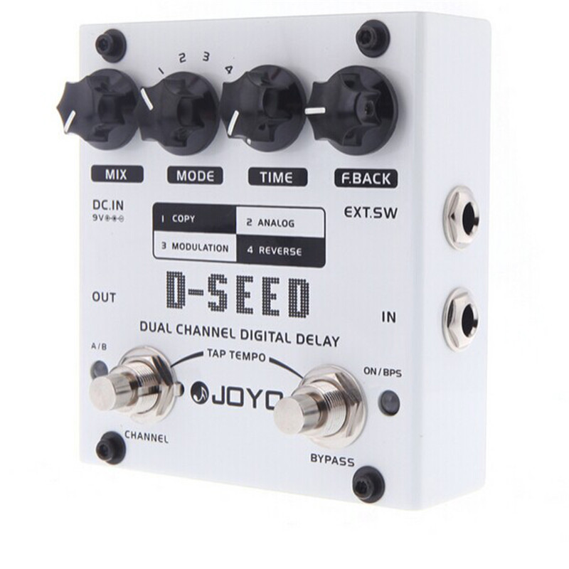 JOYO D-SEED Delay Guitar Effect Pedal delay effects guitarra stompbox Dual Channel Digital Delay True Bypass suttons seed семена в украине