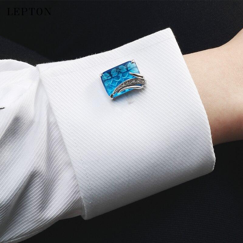 Μικρά μπλέ μανικετόκουμπα - Κοσμήματα μόδας - Φωτογραφία 6