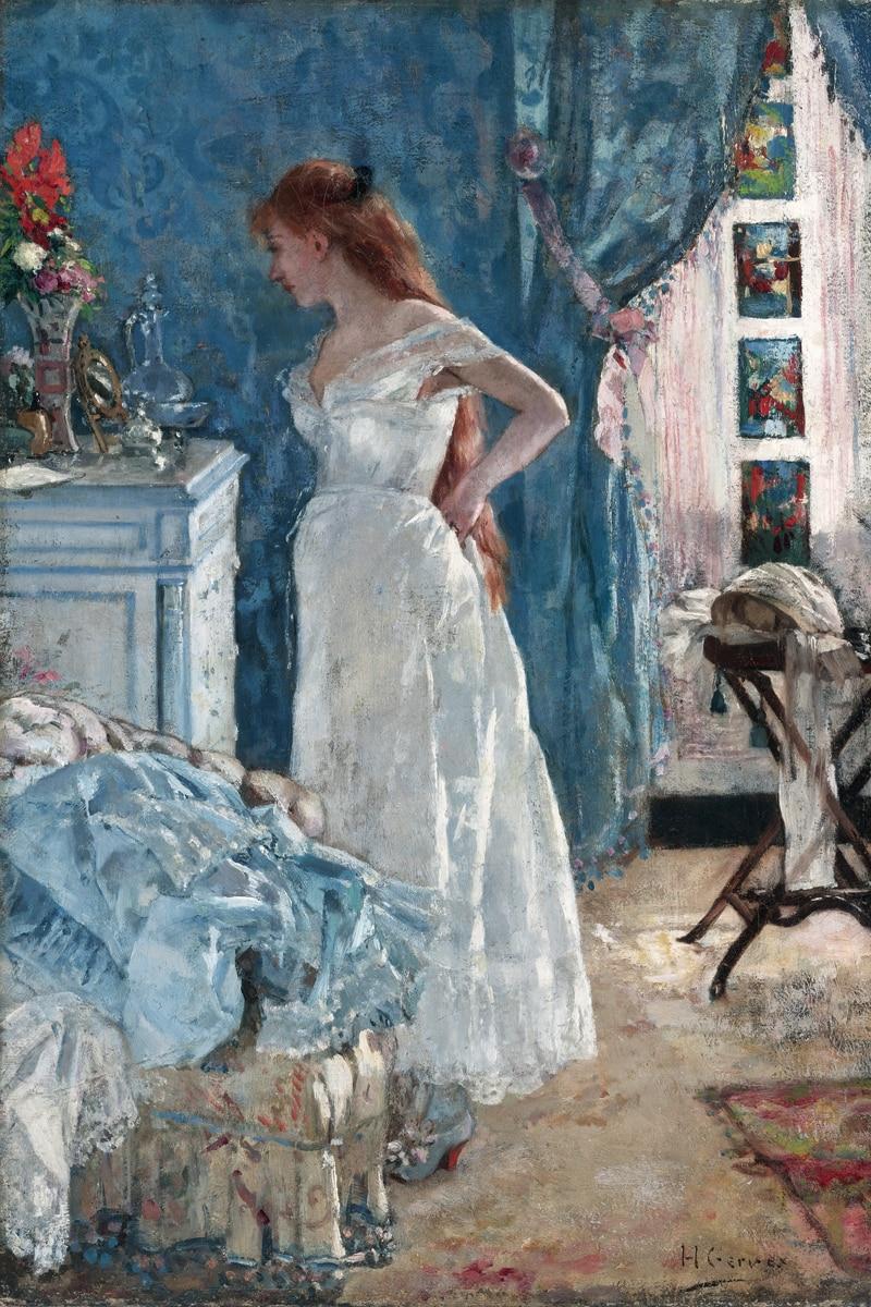 클래식 비유 그림 캔버스 초상화 예술 포스터 사진 법원 그림 초상화 어린 소녀 드레싱 모더 홈 장식