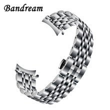 316L Stainless Steel Watchband + Metal Clip for Samsung Galaxy Watch 46mm SM-R800 Gear S3 Replacement Band Wrist Strap Wristband