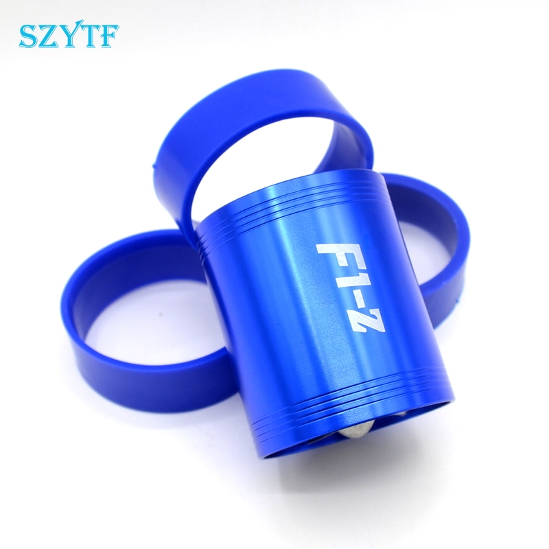 F1-Z Supercharger Turbo Air Intake Fuel Saver Fan w/ Double Propeller - Blue high quality epman universal 3 aluminium air filter turbo intake intercooler piping cold pipe ep af1022 af
