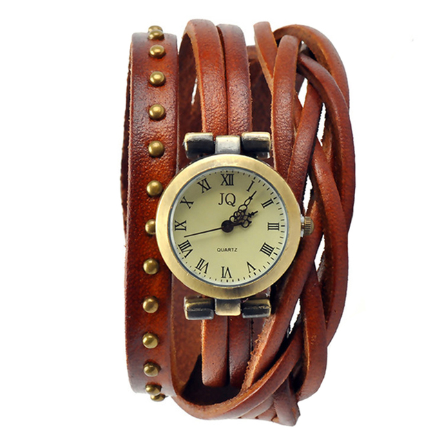 Fashion Roman Women's Watch Number Vintage Geniue Leather Watches Men Ladies Fem
