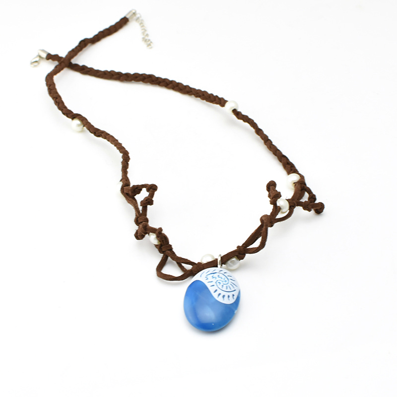 Moana Ocean Romance Rope Chain Necklaces Blue Stone Necklaces - Märkessmycken - Foto 4