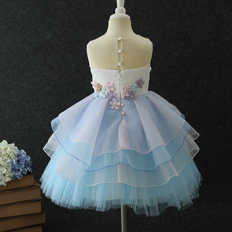 783c04ca2e ... Unicorn Party Dresses Flower Baby Girls Wedding Dress Princess Dress  Children Christmas Dresses Kids for Girl ...