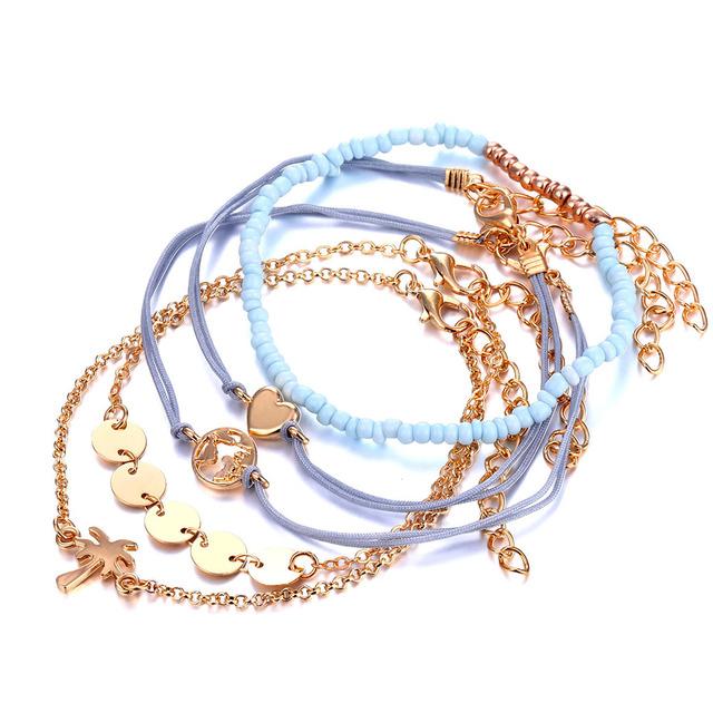 Heart Map Boho Bracelet