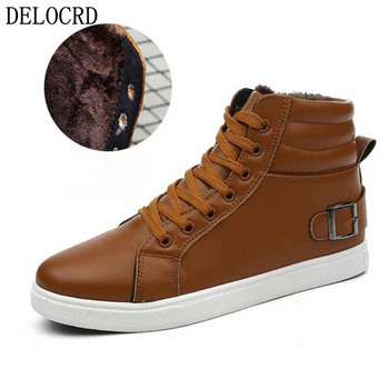 Προσφορά! 2018 Brand Hot Newest Keep Warm Men Winter Boots High Quality pu  Leather Wear Resisting Casual c59167dbbb3