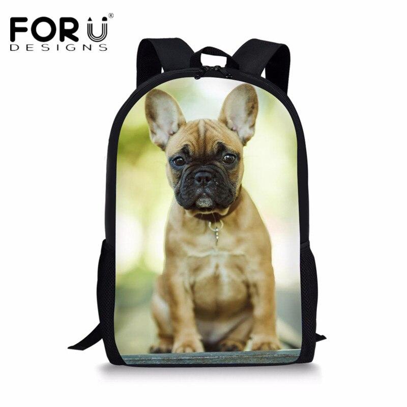 Nursery Personalised Toddler French Bulldog Backpack Kids Ruck Sack School Bag