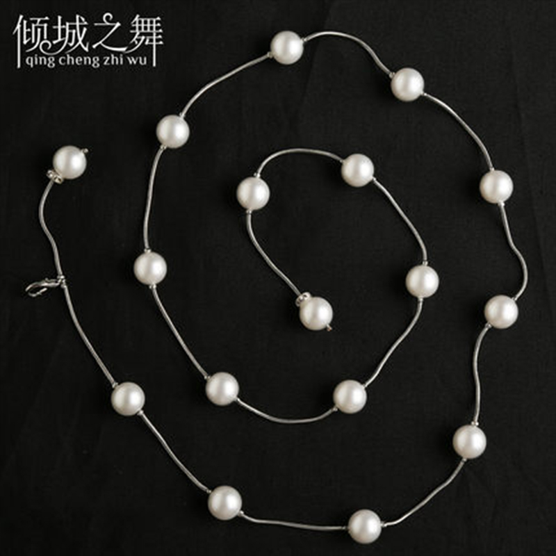 Új érkezési hastáncos női csípős sál ABS mesterséges pearl - Újdonság