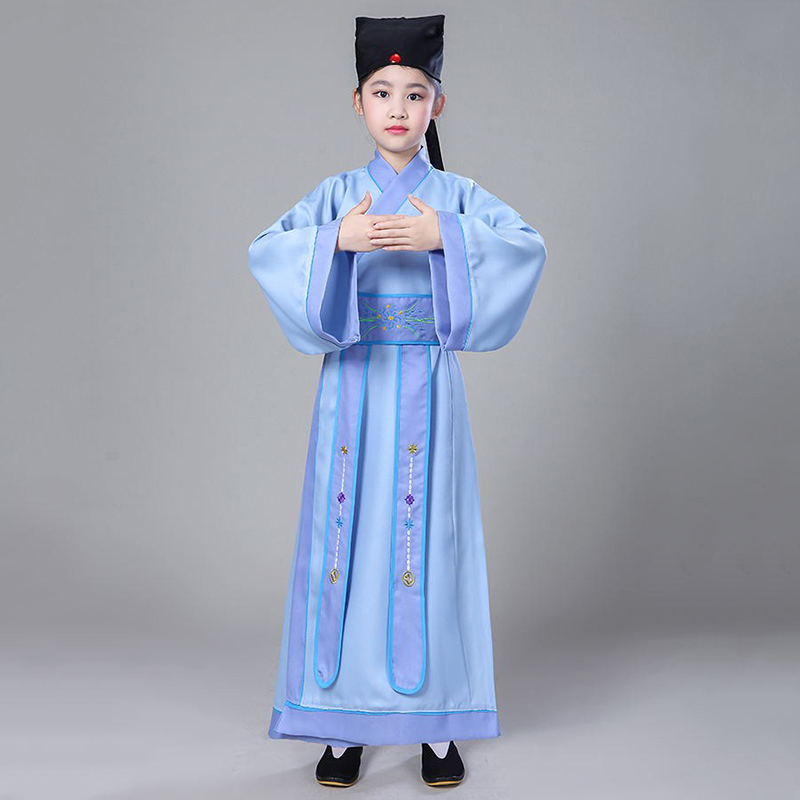 Hanfu Boy Chinese Costume For Boys Chinese Opera Costumes Traditional Chinese Dress For Kids Qing Dynasty Clothing DNV10936