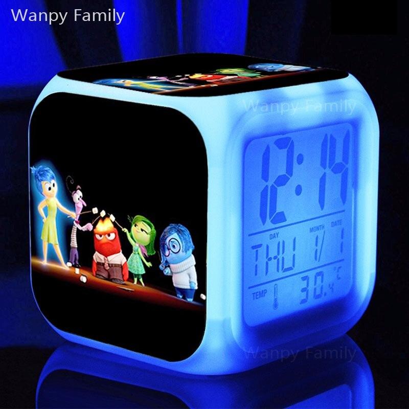 Coloring for Kids kids color changing alarm clock : Animated comedy Inside Out Alarm Clock,Color change digital alarm ...