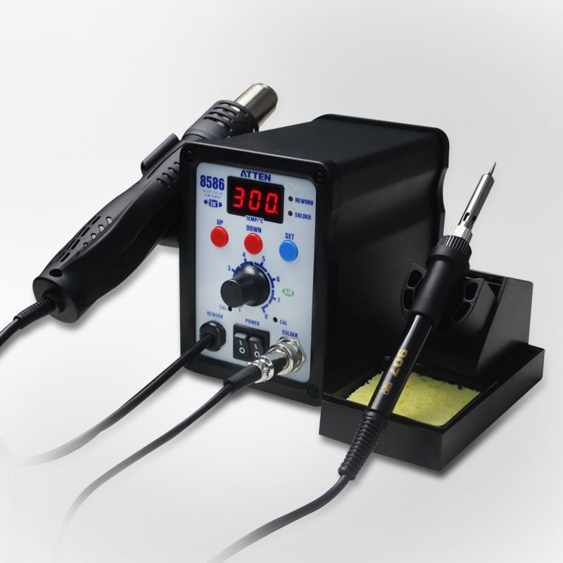 ATTEN AT8586 combo air gun soldering Rework Station soft rotating wind lead-free soldering