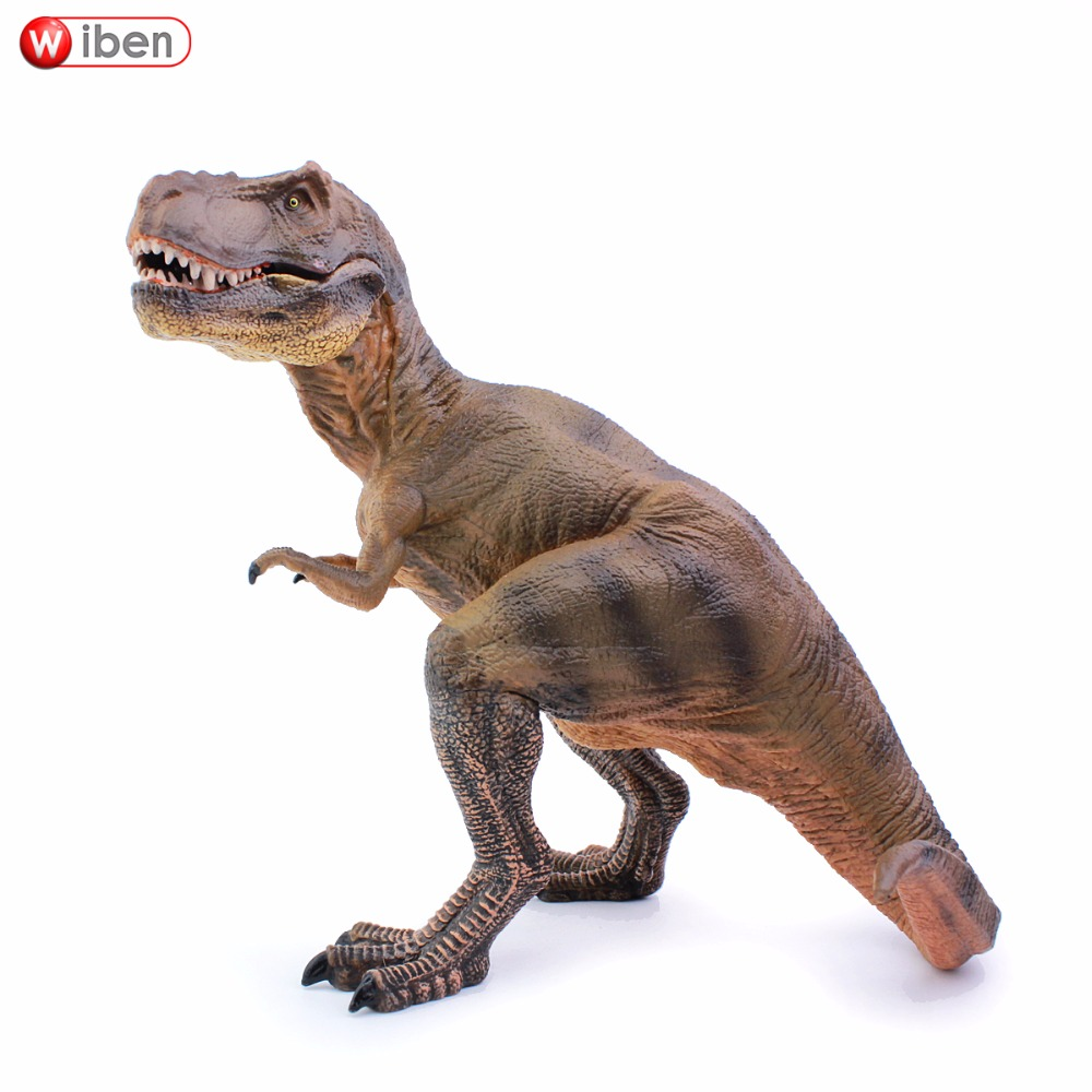 Wiben Jurassic Seated Position Tyrannosaurus Rex T-Rex Dinosaur Toys  Action Figure Animal Model Collection Children Toy Gifts wiben 3pcs jurassic triceratops tyrannosaurus rex parasaurolophus cub model dinosaur toys action toy figures collection gift