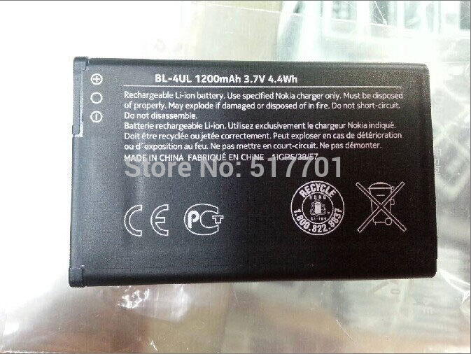 ALLCCX high quality mobile phone battery <font><b>BL</b></font>-4UL for Nokia Asha <font><b>225</b></font> with best price and good quality image