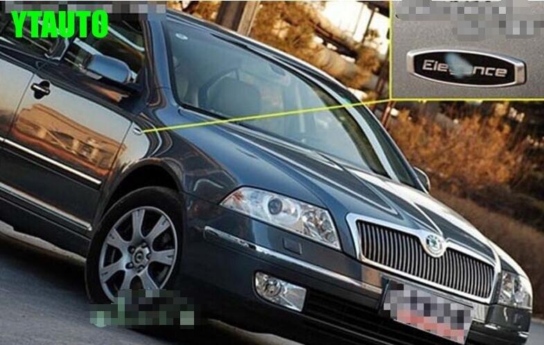 Car emblem fender sticker for skoda Octavia, fabia,superb,rapid yeti Elegance style