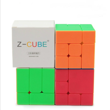 цена на New ZCube Bandaged 3x3x3 Cube stickerless 3x3 magic cubes Professional Brain Teaser Puzzle Cube for magico Cube Educational Toys