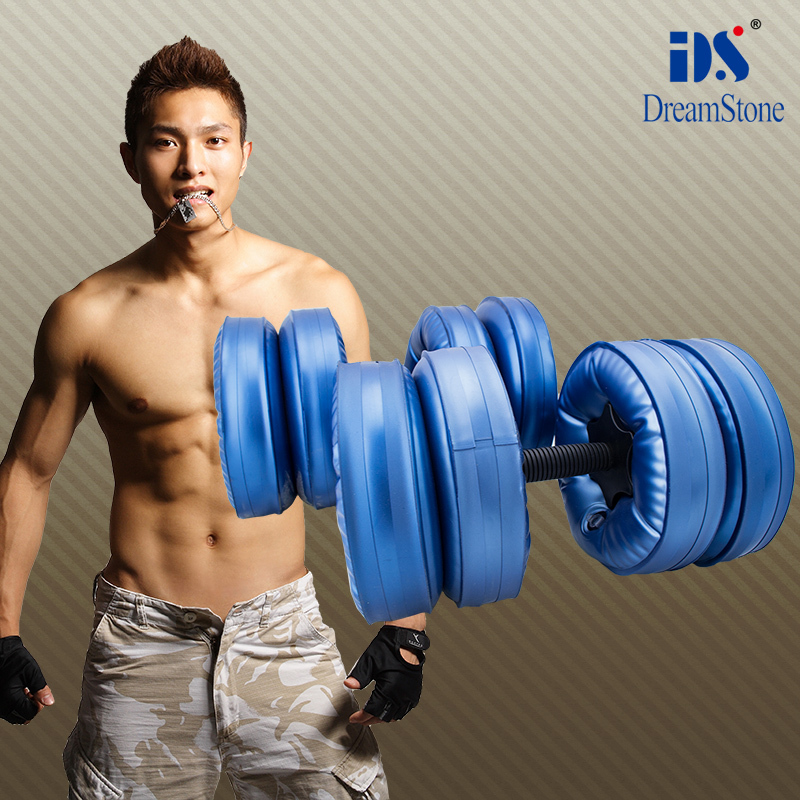Sports + water filled  dumbbell // fitness / dumbbell +adjustable  weights dumbbell scapa sports pубашка