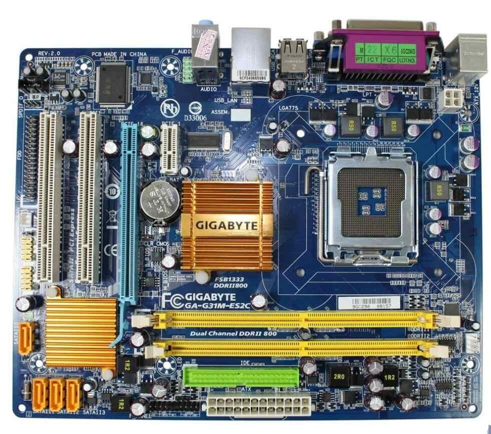 สำหรับGigabyte GA-G31M-ES2Cเดิมที่ใช้สก์ท็อปเมนบอร์ดG31M-ES2C G31M G31ซ็อกเก็ตLGA 775 DDR2 M Icro-ATXในการขาย