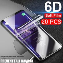 20pcs/Lot 3D soft PET film for Samsung Galaxy Note 10 Pro 9 8 S10 S10e S7 edge S9 S8 plus Screen Protector Not Tempered Glass(China)