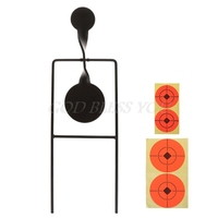 Shooting Target Outdoor Hunting Catapult Practice Games Metal Action Spinner Automatic Rotating Tactical Accessories Objective