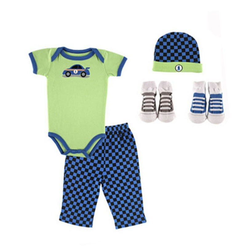 07133 New 5 pieces Baby Girl Boy Clothes 2016 100% Cotton Newborn Baby Clothing Sets Infants Suit Bebes Next Baby Clothing (2)