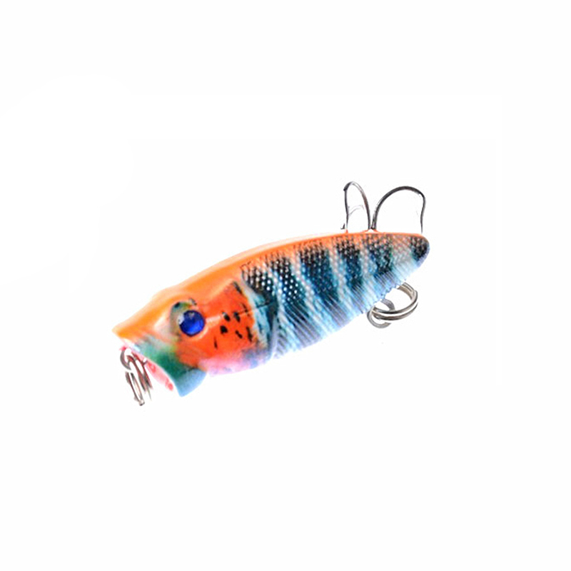 1PCS 3.5CM 2.7G Fishing Lure Mini Popper Baits Artificial Baits Lake Hard Lure Fishing Tackle Fly Fishing Fake Lure 30pcs set fishing lure kit hard spoon metal frog minnow jig head fishing artificial baits tackle accessories