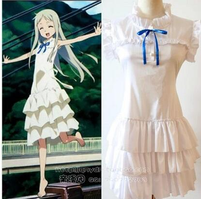 anime Anohana cosplay Menma Honma Meiko costume we still don't know the name of the flower we saw that day halloween dress