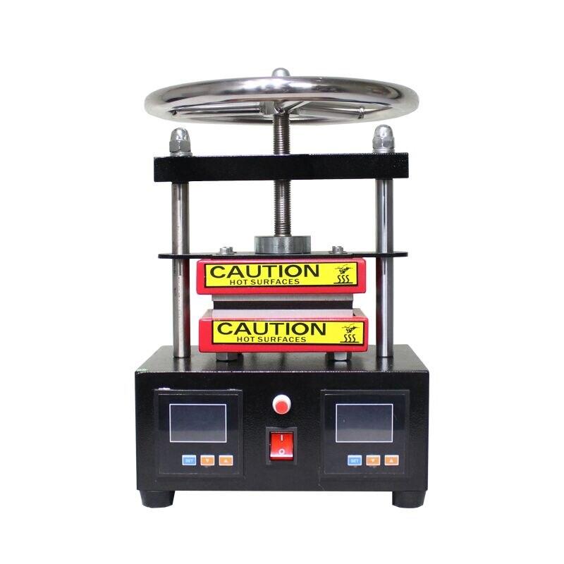 무료 배송 조절 압력 로진 프레스 유압 열 프레스 기계 듀얼 가열 플레이트 오일 추출기 ck220-에서부각기부터 홈 & 가든 의  그룹 2