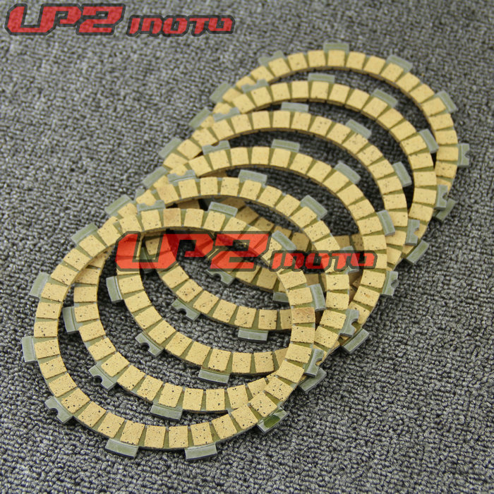 For Kawasaki KZ200 KL250 VN250 ZR750 <font><b>KX125</b></font> Paper Based Clutch Friction Kit Disc Plates Set Motorbike <font><b>Parts</b></font> Accessories image