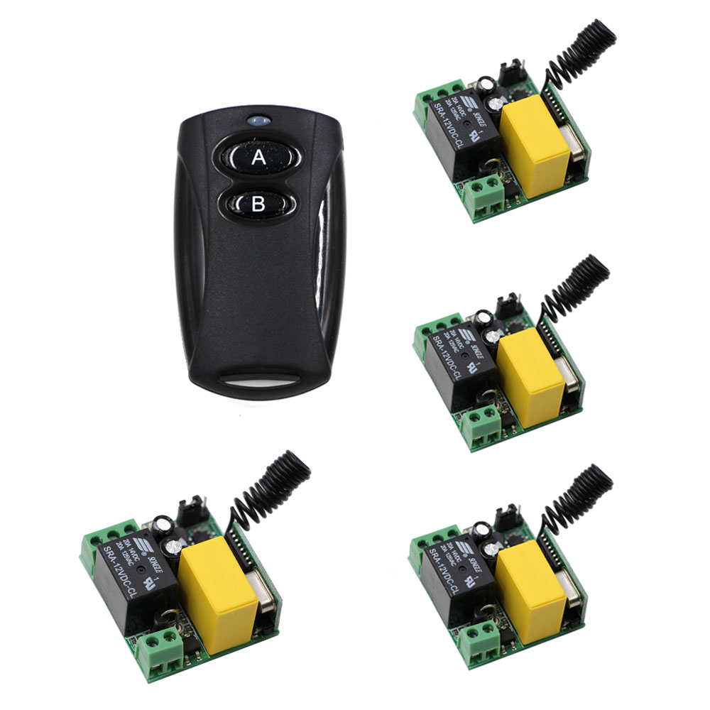 Casa inteligente Interruptor de Control Remoto Inalámbrico RF AC 220 V 10A relé