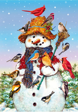 Full round Diamond 5D DIY  Painting Snowman birdie Embroidery Cross Stitch Rhinestone Mosaic Decor