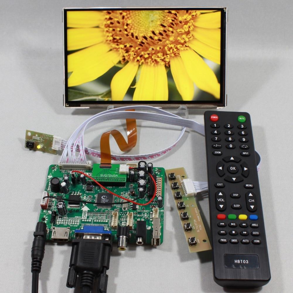 HDMI+VGA+AV+Audio+USB FPV Controller board+7inch CLAA070MA0ACW 800X600 lcd panel for raspberry hdmi vga av audio usb controller board for m201ew01 1680 1050 6ccfl lcd panel for raspberry