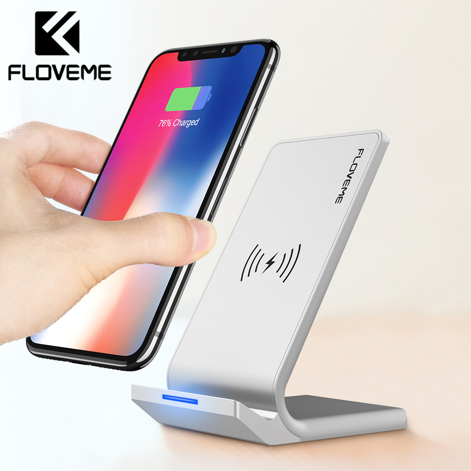 FLOVEME Universal Qi rápido cargador inalámbrico para el iPhone X XS Max XR cargador USB 10 W carga de energía para Samsung galaxy S8 S9 Nota 8