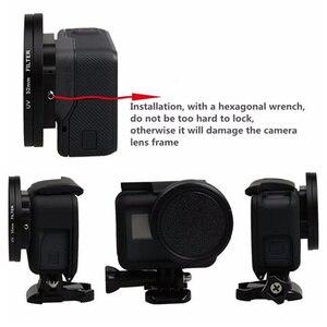Image 4 - Anel adaptador de filtro de lente vermelha, 52mm uv cpl nd2 nd8 estrela 8 amarelo fld roxo anel adaptador para gopro hero acessórios para câmera gopro5 5 go pro