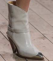Italian Women Metal Pointed Toe Ankle Boots Ladies Wood Grain Spike Heels Dress Shoes Women Slip on Motorcycle Bottines Shoes