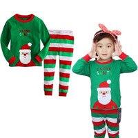 Pajamas Kids Christmas Girls Clothing Sets Cartoon Santa Claus For Christmas Party Masquerade Pijama Infantil