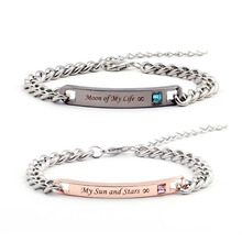 """""""Moon of My Life"""" and """"My Sun and Stars"""" Printed Bracelets for Lovers"""