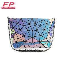 2017 Famous Bao Bags Women Diamond Lattice Fold Over Bags Women
