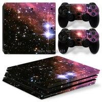 OSTSTICKER Un Juego Para PS4 PRO de La Piel Para Sony Playstation 4 Pro Consola + 2 controller Skin Sticker