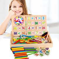 Baby Zahl Zählen Math Spielzeug Baby Frühen Montessori Pädagogisches Spielzeug Mathematische Entwickeln Mathematik Holz Spielzeug Box Set Geschenk für Kinder