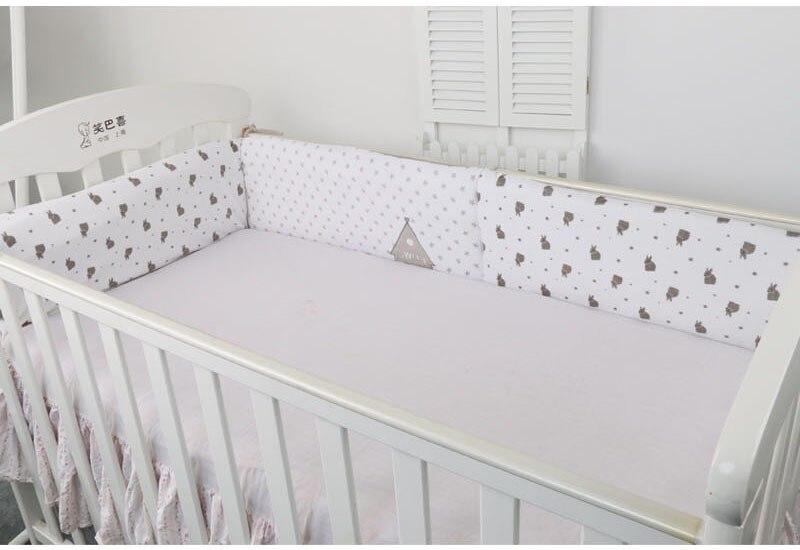180*40 CM lit bébé pare chocs, gris et rose deux couleurs ...