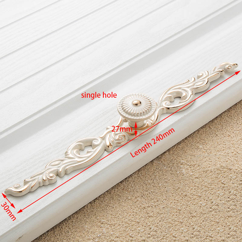 KAK цинк Aolly цвета слоновой кости ручки для шкафа кухонный шкаф дверные ручки для выдвижных ящиков Европейская мода оборудование для обработки мебели - Цвет: Handle-8105-B