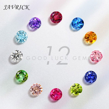100Pcs Mixed Color 4MM Loose Beads Cubic Zirconia Crystal stone Birthstones