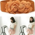 Fashion Women Celebrity Style Rose Flower Elastic Dress Waist Band Stretchy Belt