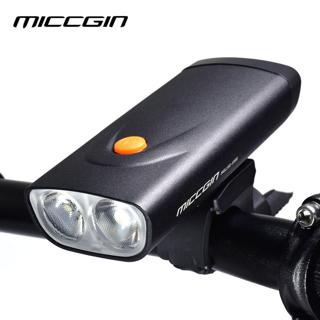 MICCGIN Bike Two LED 800 Lumen Front Light Lantern For Bicycle Cycling Flashlight USB Rechargeable Lighting Waterproof Lamp