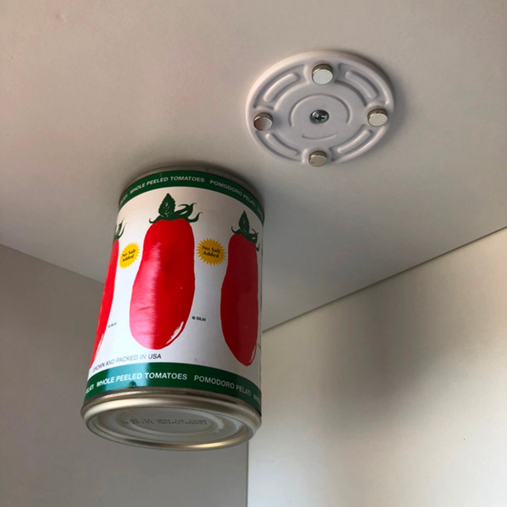 Wall Mounted Kitchen Racks Magnetic Canned Food Hangers Magnetic Save Space Kitchen holder Refrigerator hook Strong Magnets Q4