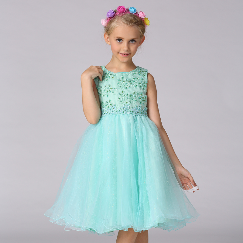 Retail Rose Floral Embroidery   Flower     Girl     Dresses   With Beading Baby Formal Pageant   Dresses   L977