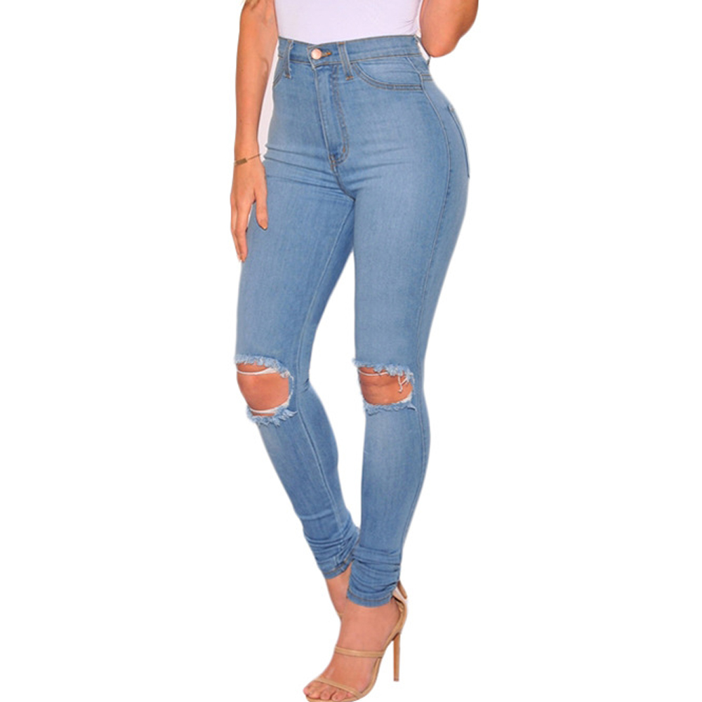 Popular Plus Size Distressed Blue Jeans-Buy Cheap Plus Size ...